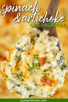 Side Dishes For Chicken, Rice Side Dishes, Vegetable Side Dishes, Food Dishes, Sides For Chicken, Cheesy Rice Casserole, Casserole Recipes, Spinach Casserole, Hamburger Casserole