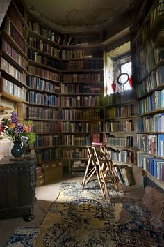 An alcove off the writing room at Sissinghurst Castle in Kent