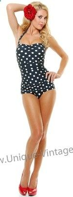 Vintage one piece bathing suit this is what I want for this summer!!