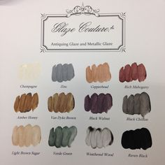 Why wax? You can glaze your painted furniture instead! 3 metallic glazes and 9 antiquing glazes - Glaze Couture!(TM) by The Couture Collection! (TM)