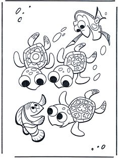 18 Best Coloring Pages Finding Nemo Images Coloring Pages