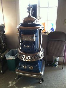 Parlor Stove Kitchen Fireplace wood coal pot belly oven | eBay
