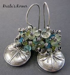 Signature Original Earring Style Gemstone by kristaskorner on Etsy, $62.00