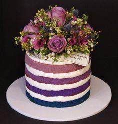 Naked Cake by Cecy Huezo .  www.delightfulcakesbycecy.com Pretty Cakes, Beautiful Cakes, Amazing Cakes, Bird Cakes, Cupcake Cakes, 80 Birthday Cake, Birthday Cake With Flowers, Guinness Cake, Fantasy Cake