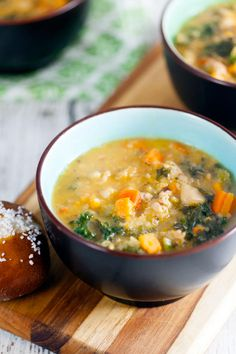 Sausage and Kale Soup is a great make ahead meal. The flavors meld into a hearty and delicious stew.