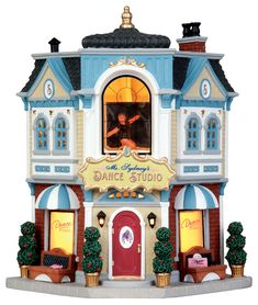 Lemax Ms. Sydney's Dance Studio  SKU# 45744. Released in 2015 as a Lighted Building for the Caddington Collection.