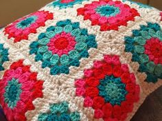 MaMariska: Tutorial granny square. This is the perfect granny square for the tote I want to make