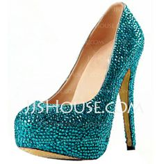 Pumps - $87.99 - Suede Stiletto Heel Closed Toe Platform Pumps With Rhinestone (085026499) http://jjshouse.com/Suede-Stiletto-Heel-Closed-Toe-Platform-Pumps-With-Rhinestone-085026499-g26499