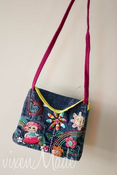Outgrown Jeans to Girly Purse