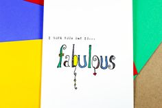 Fabulous Birthday Greeting Card. Zentangle by TheNestedTurtle, $4.00