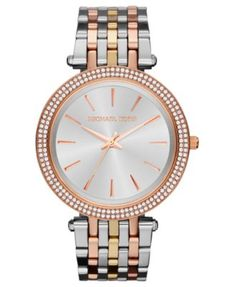 Michael Kors Women's Darci Tri-Tone Stainless Steel Bracelet Watch 39mm MK3203 | macys.com