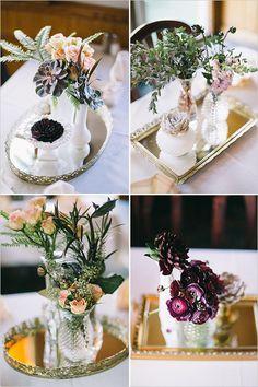 Orted Mirror Flower Arrangement Centerpieces Boat Wedding Reception Flowers Cruise