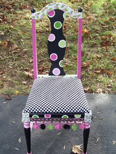 The Decorative Paintbrush, Designs by Mary Mollica: Chairs