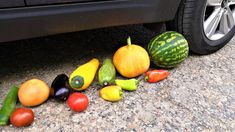 Crushing Crunchy & Soft Things by Car!   EXPERIMENT: CAR  VS FRUITS  #Crushing #Experiment #Satisfying Perfect Image, Perfect Photo, Love Photos, Cool Pictures, Oddly Satisfying Videos, Floral Foam, Watermelon, Crushes, Thats Not My