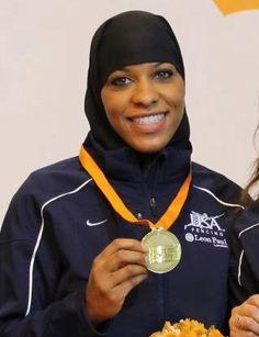 Ibtihaj Muhammad - USA Fencer and Sports Ambassador First Muslim woman to represent the United States in international competition https://www.facebook.com/ibtihajmuhammadusa?ref=stream_location=stream