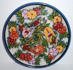Vintage Mexican Casa Rugerio TALAVERA Pottery Plate Dish Trivet