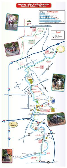 Trail Maps, Little Miami - Loveland Bike Trail Map, Loveland Ohio, Bed and Breakfasts, Bicycling, Bike Trails