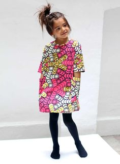 Check Out The Cutest Ankara Dress For Our 2018 Kids - WearitAfrica Ankara Styles For Kids, African Dresses For Kids, African Children, African Print Dresses, African Fashion Dresses, Girls Dresses, African Outfits, African Prints, African Inspired Fashion