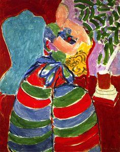 The Striped Dress / Henri Matisse - 1938