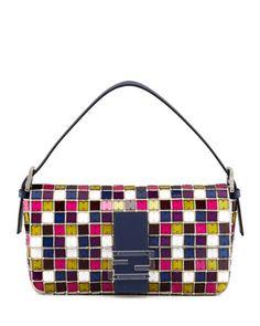 Multicolor Mosaic Baguette Bag by Fendi at Neiman Marcus.
