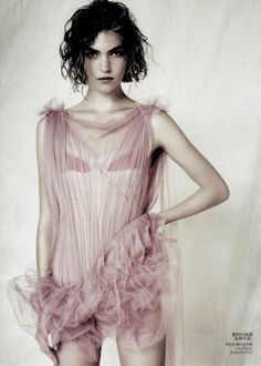 Sound of Slience Vogue China April 2011 Shot by: Paolo Roversi Styling by: Nicoltta Santoro Model: Arizona Muse in Vera Wang❤ Vogue China, Vogue Uk, Vogue Russia, Paolo Roversi, Peter Lindbergh, Lingerie Latex, White Lingerie, Sexy Lingerie, Color Mauve