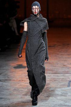 Rick Owens - Fall 2012, pilling dress