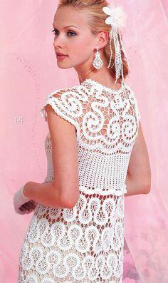 Crochet Patterns. E-book. Instant Download PDF.  Dress,Skirt, Top, Jacket, Irish Lace Summer Issue Journal Mod #546
