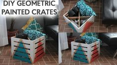 DIY Painted Crates | Tanner Bell