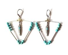 BO créoles triangle Turquoise via AMAbijoux. Click on the image to see more!