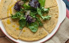 This gluten-free flatbread known as socca in French cooking is a thin and unleavened pancake, similar to a crêpe. Socca is delicious eaten plain, but can also act as the base for pizza toppings or as bread for sandwiches.
