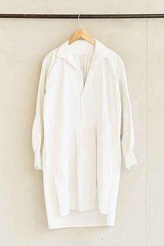 Vintage Initialed White Tunic Dress