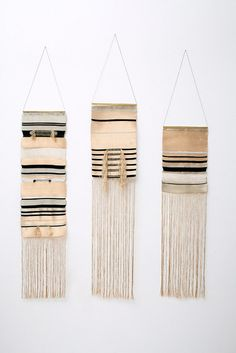 LESSON 1: Objective- weave a wall hanging using learned methods. Consider having the students dye their own materials from natural resources. Discuss Native American artistry. Example by Justine Ashbee