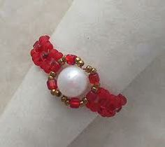 Pearl and Seed Bead Ring