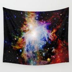 GaLaXY : Orion Nebula Dark & Colorful Wall Tapestry