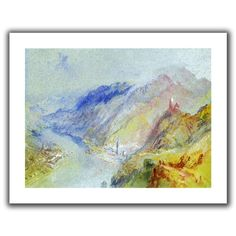 'The Castle of Trausnitz overlooking Landshut' by William Turner Canvas Poster