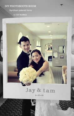 Polaroid frame in Ideas of planning, organizing and decorating weddings