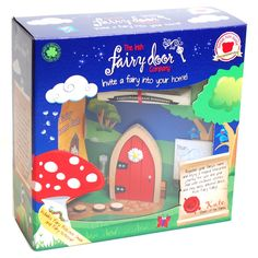 Kids will love being imaginative with this Red Magical Fairy Door. Great for outdoors and in.