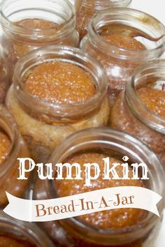 Pumpkin Bread-In-A-Jar  Ton of these jars....have to try this   @shesacraftygirl