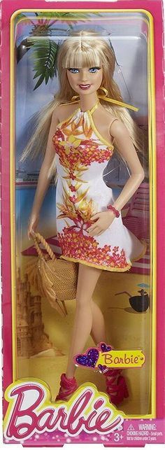 DOLL CLOTHES FITS BARBIE NIGHTGOWN YELLOW BUTTERFLY PRINT