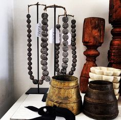 African Beads on Stand