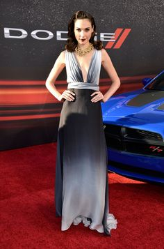 Gal Gadot Evening Dress - Gal wore this ombre gray dress to the premiere of 'Fast and Furious 6.'