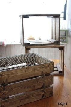 セリアの網をSPF2×4材でDIY♪アンティーク風木箱の作り方|LIMIA (リミア)