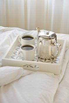 Morning coffee in bed from a beautiful silver coffee pot Coffee In Bed, I Love Coffee, Coffee Break, Morning Coffee, Coffee Coffee, Sunday Morning, Coffee Mornings, Folgers Coffee, Morning Ritual