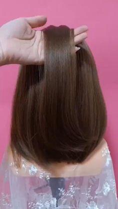 Easy Everyday Hairstyles, Bun Hairstyles For Long Hair, Braided Hairstyles, Hairstyle Hacks, Kawaii Hairstyles, Fast Hairstyles, Hairstyles Videos, Natural Hairstyles, Girl Hairstyles