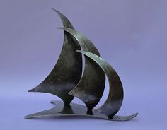 sailing trophy, sculpture of a sail boat