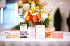Orange - Yellow - Wedding Invitations - Flowers