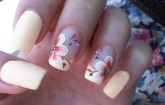Diseños de uñas a la moda actual, diseño de uñas a la moda acrilica flor.  Únete al CLUB, síguenos! #manicuras #nailsdesign #uñassencillas