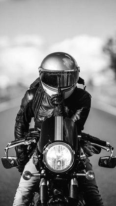 Gentleman Motors & Way of life – Cafe Racer – # espresso … – Motorrad – # espresso Motorcycle Men, Scrambler Motorcycle, Motorcycle Style, Motorcycle Photo Shoot, Motorcycle Quotes, Lady Biker, Biker Girl, Triumph Motorcycles, Custom Motorcycles