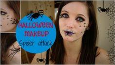 spider attack #halloween #makeup