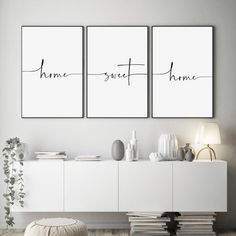 3 Piece Wall Art, Wall Art Sets, Mirror Wall Art, Lets Stay Home, Home Decor Wall Art, Quotes For Wall Decor, Hall Wall Decor, Creative Wall Decor, Cute Wall Decor